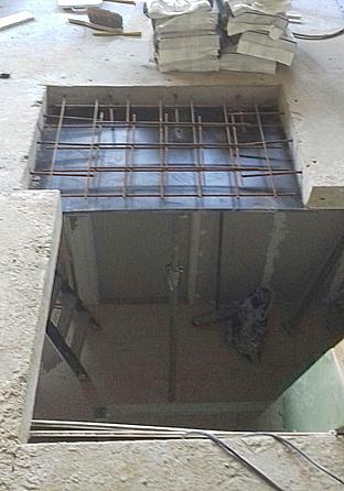 Trapgat in betonvloer door betonboorder in almere for Trapgat maken in beton